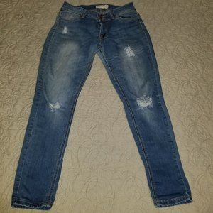 Encore Jeans ripped skinny jeans, size 9